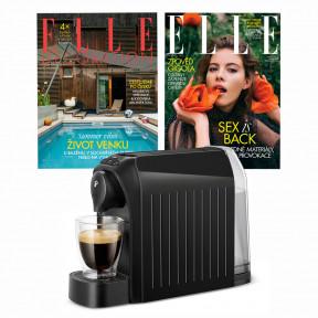 Roční předplatné Elle Decoration (4 vydání) + Elle (12 vydání) + kávovar Tchibo Cafissimo Easy Black
