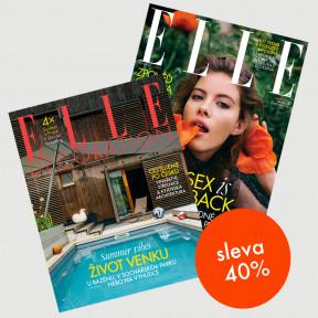 Speciální předplatné do konce roku Elle Decoration (2 vydání) + Elle (4 vydání) se slevou 40 %