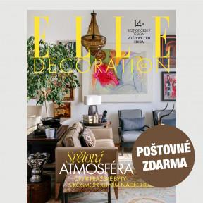 Aktuální vydání Elle Decoration 1/2021 POŠTOVNÉ ZDARMA (pouze pro ČR)