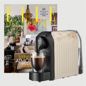 Dvouleté předplatné Elle Decoration + kávovar Tchibo Cafissimo Easy