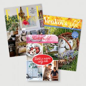 Roční předplatné Elle Decoration (4 vydání) + Marianne Venkov&Styl (6 vydání) + kniha Tvořte s námi celý rok