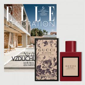 Roční předplatné Elle Decoration (4 vydání) + Elle (12 vydání) + parfém Gucci